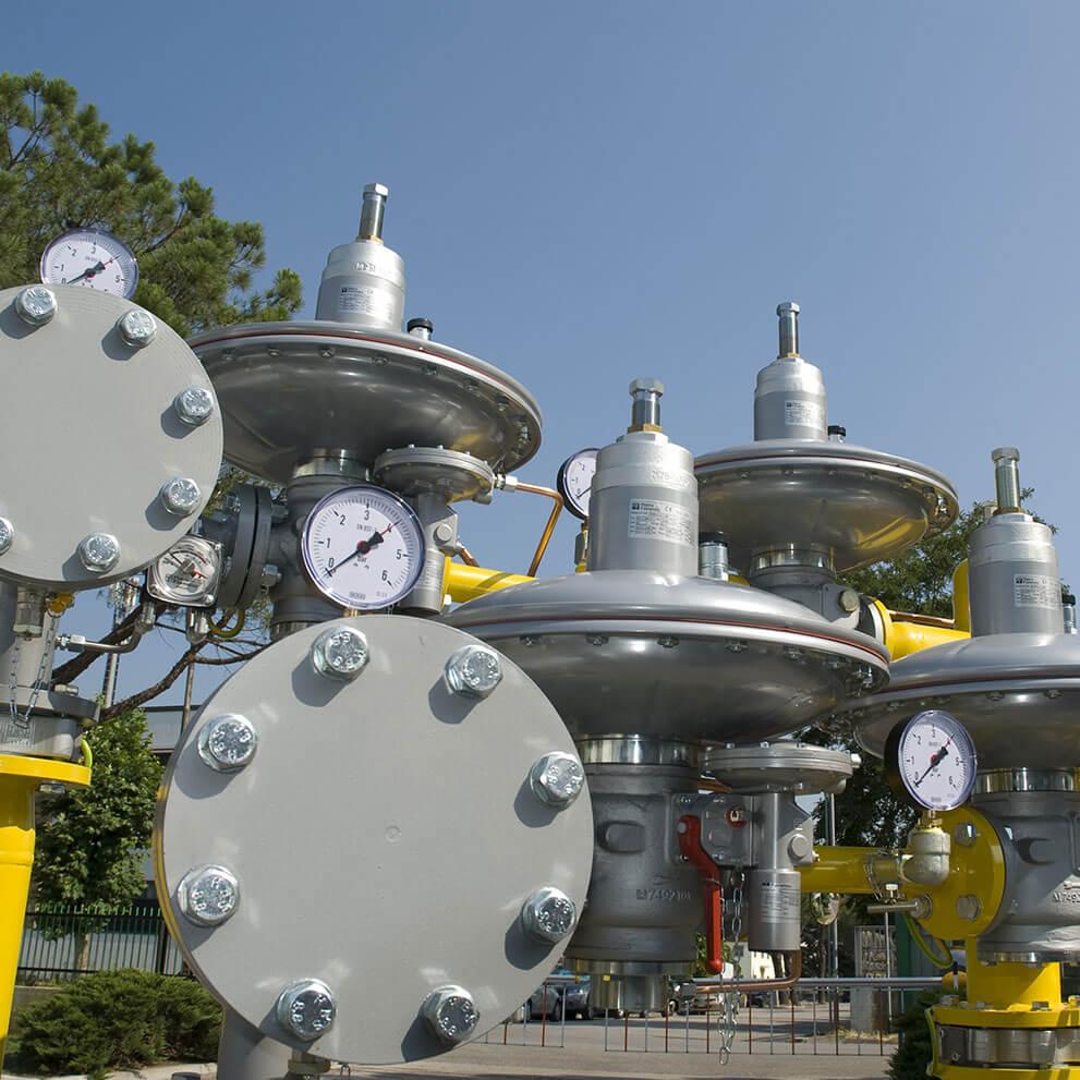 Regolatori per gas a media-bassa pressione