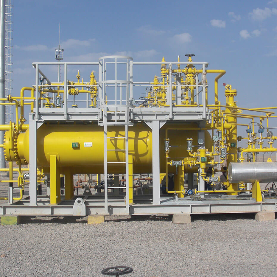 Gas dehydration units with fixed bed technology (molecular sieves and aluminas)