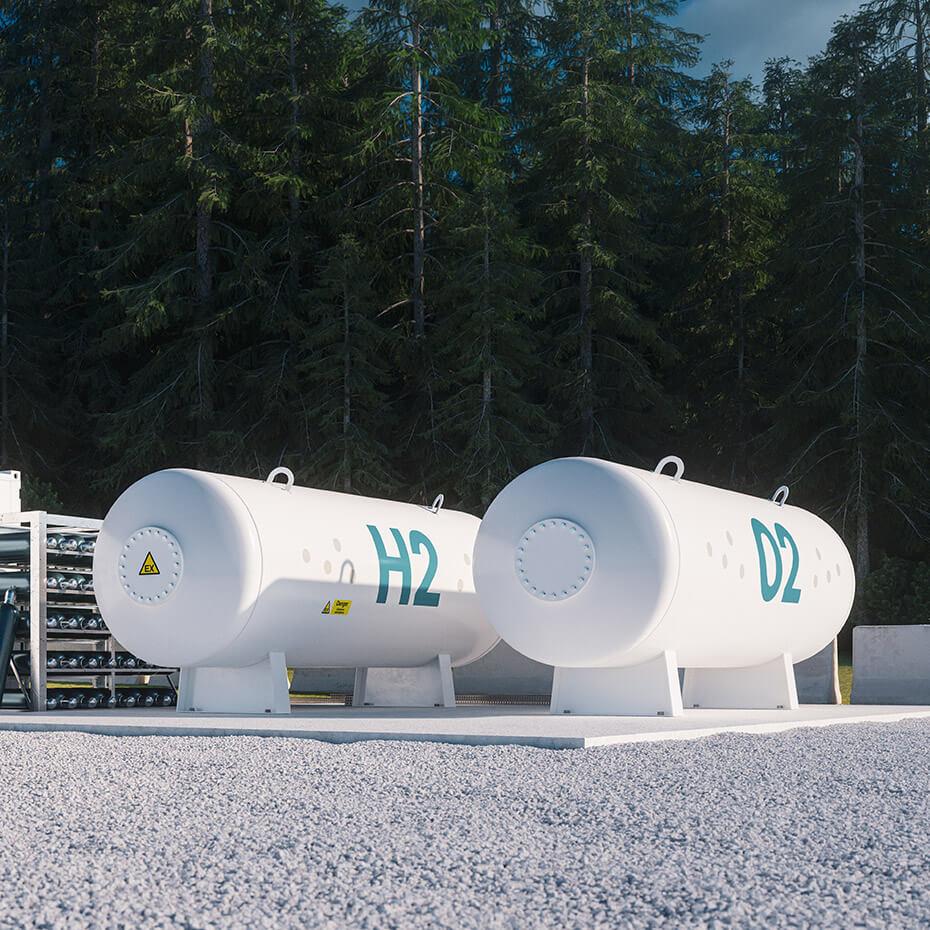 Hydrogen blending stations