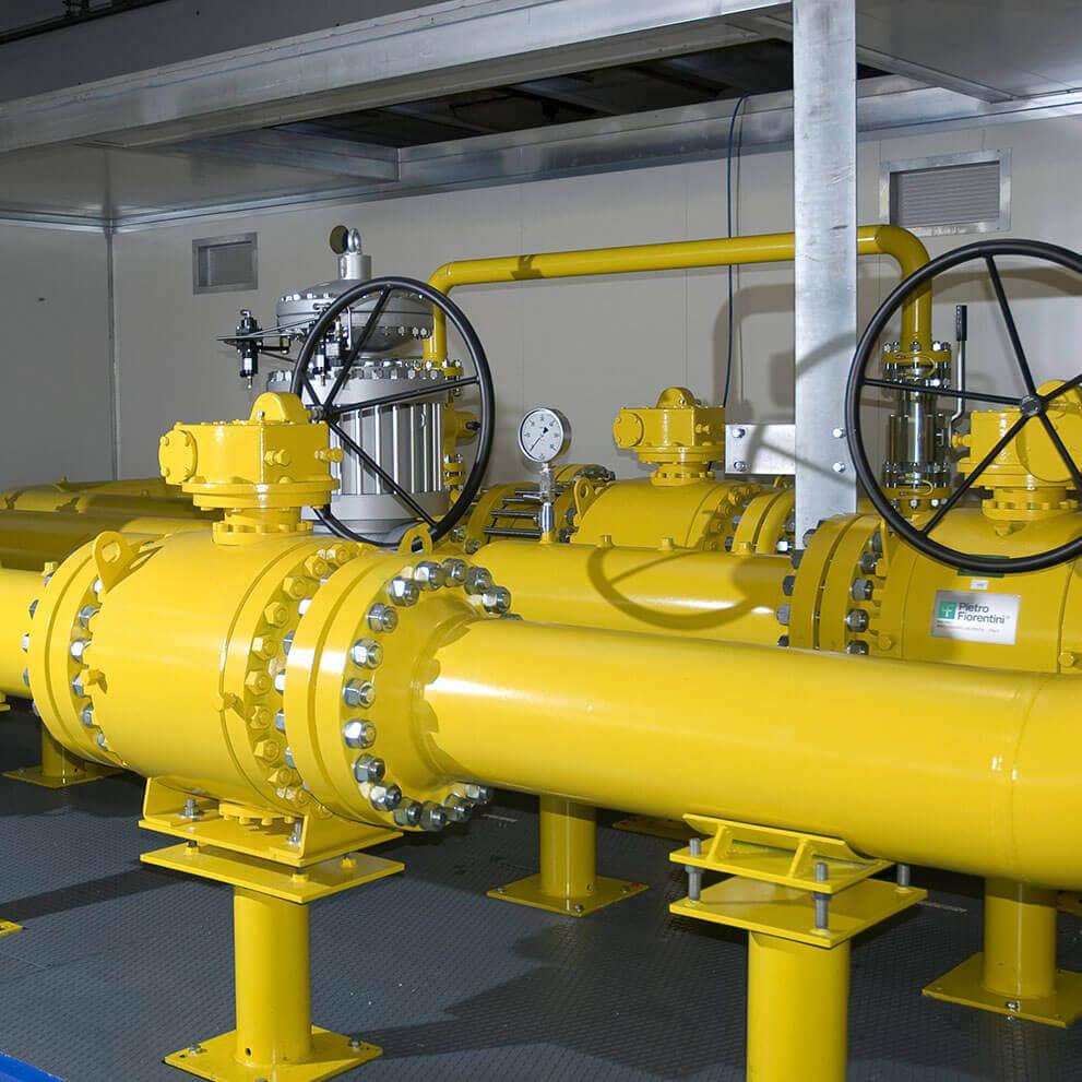 Controllo di pressione e misura del gas