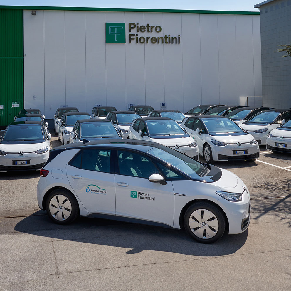 New ID.3 electric cars received in a ceremony attended by Volkswagen executives